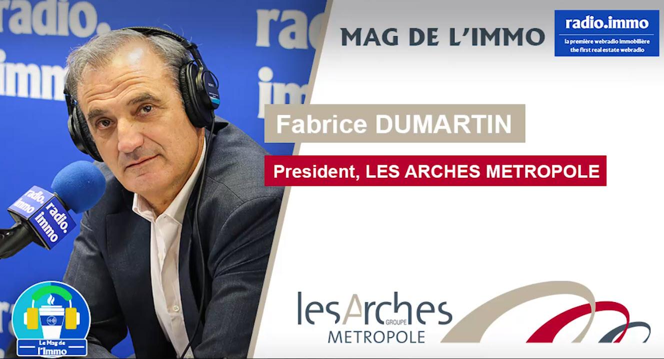 Fabrice Dumartin au micro de Radio Immo